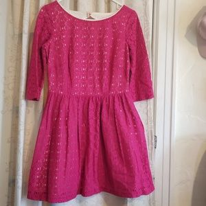 Lilly Pulitzer magenta pink lace dress